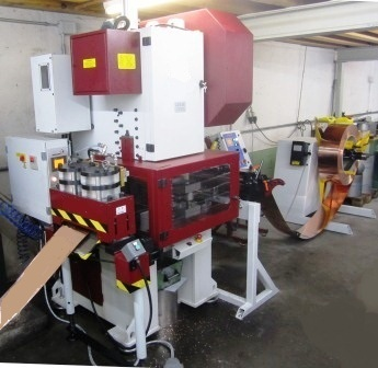 stamping line, presses, excenter press, roll feed, reel, shear
